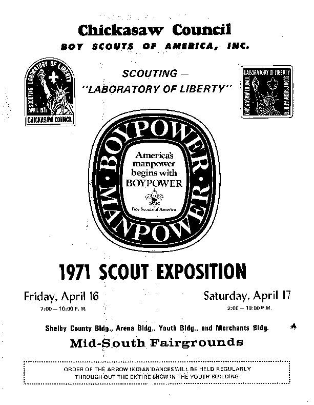 1971 - Chickasaw Council Scout Show Program.PDF