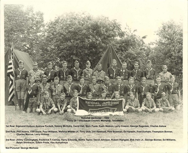 1950 - Chickasaw Council National Jamboree Contingent (with names).jpg