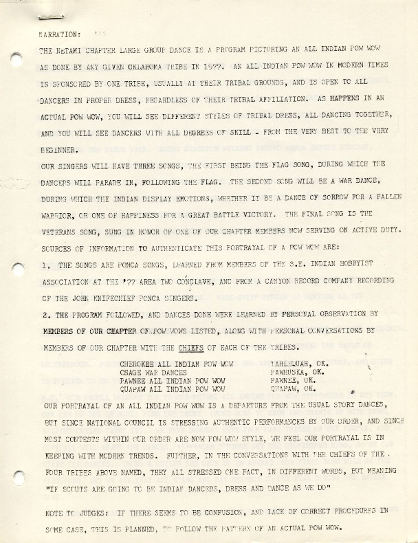 1977 - Chickasah Lodge Netami Chapter Pow Wow Script.pdf