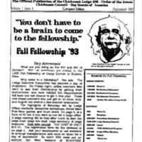 1993 (Sept) Chickasah Lodge Thunderbird Newsletter