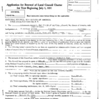 1931 Chickasaw Council Recharter & Annual Report