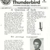 1981 (June) Chickasah Lodge Thunderbird Newsletter