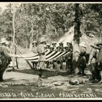 1920 Photo: Kamp Kiwani Flag Lowered
