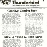 1981 (Mar) Chickasah Lodge Thunderbird Newsletter
