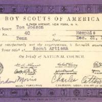 http://www.kiakimamuseum.org/plugins/Dropbox/files/1942 Senior Scout Artisan Card.pdf