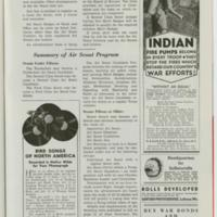 1943 (02/01/1943) Scouting Magazine: Indian Fire Pump ad (Testimonial by Camp Currier director)