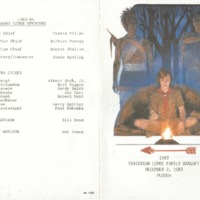 1983 Chickasah Lodge Family Banquet Program