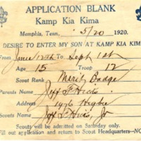 1920 Kia Kima Camper Application