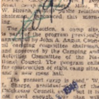 1946 (11/25/1946) Press-Scimitar: Clear Ground at Scout Camp