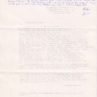 1990 Chickasah Lodge Elangomat Training Letter