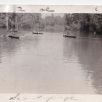 1949 Photo: Camp Currier Canoes