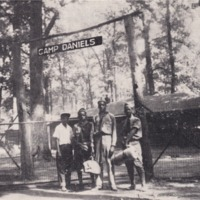 1949 Photo: Camp Daniels Gateway