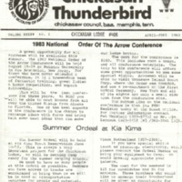 1983 (Apr-June) Chickasah Lodge Thunderbird Newsletter