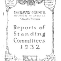 1932 Chickasaw Council Reports of Committees