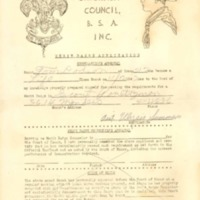 http://www.kiakimamuseum.org/plugins/Dropbox/files/1942 Chickasaw Council Merit Badge Application.pdf