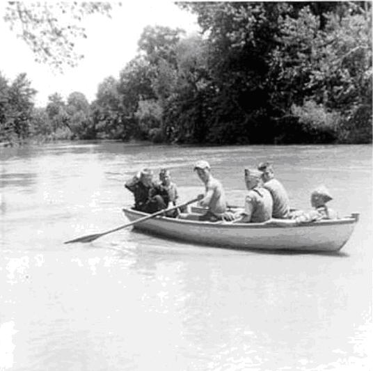 1956 Photo: Warren Schmidt Ferrying Scouts