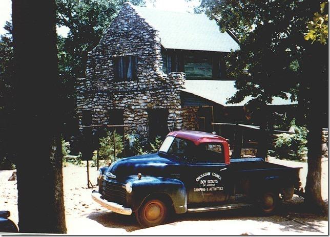 1960c. Photo: Kia Kima Truck in front of Thunderbird Lodge