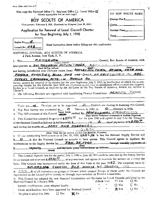 1940 - Chickasaw Council Recharter & Annual Report.PDF
