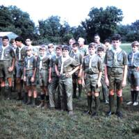 http://kiakimamuseum.org/plugins/Dropbox/files/1969c Troop 48 at Evening Flag at Kia Kima (Old Trading Post in background).jpg