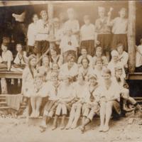 1920 Miramichee Postcard: Group of Miramichee Girls