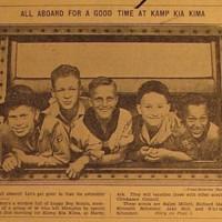 1933 Photo: All Aboard for a Good Time at Kamp Kia Kima