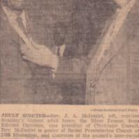 http://www.kiakimamuseum.org/plugins/Dropbox/files/1959 (1-21-59) - Press Scimitar - J.A. McDaniel Receives Silver Beaver [Dalstrom].jpg