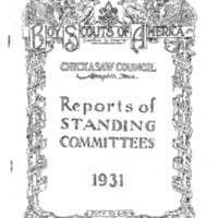 1931 Chickasaw Council Reports of Committees