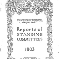1933 Chickasaw Council Reports of Committees